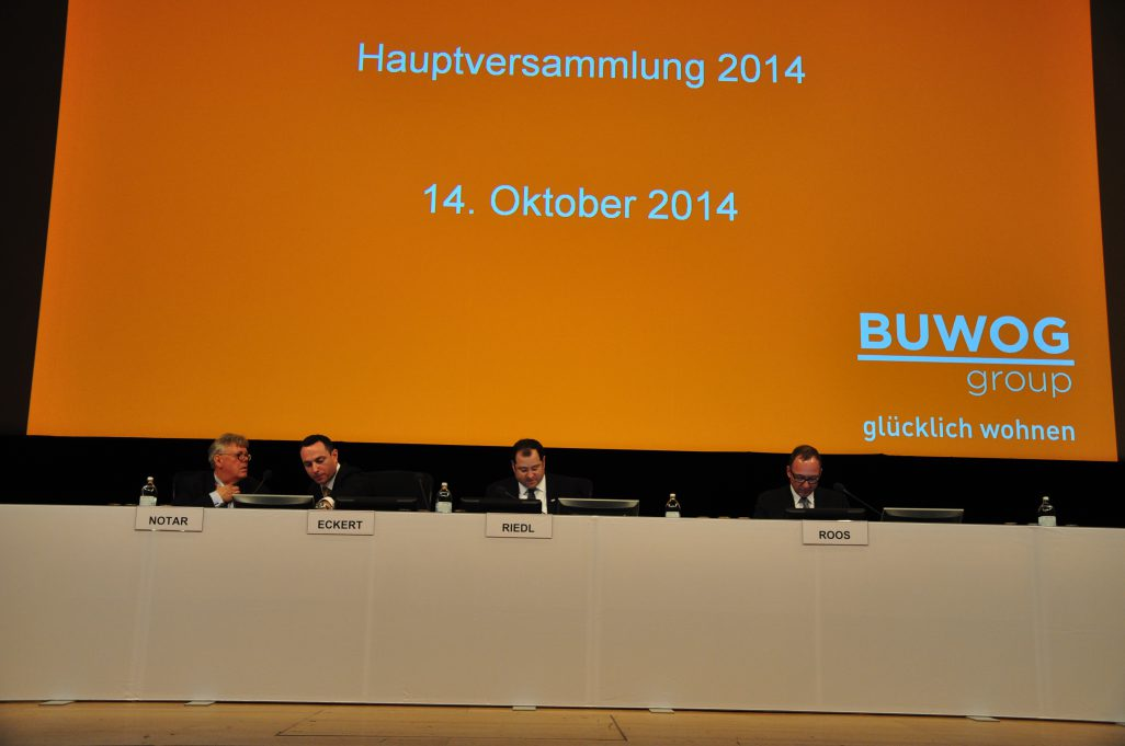 Live blog from the 1st ordinary shareholders' meeting of BUWOG