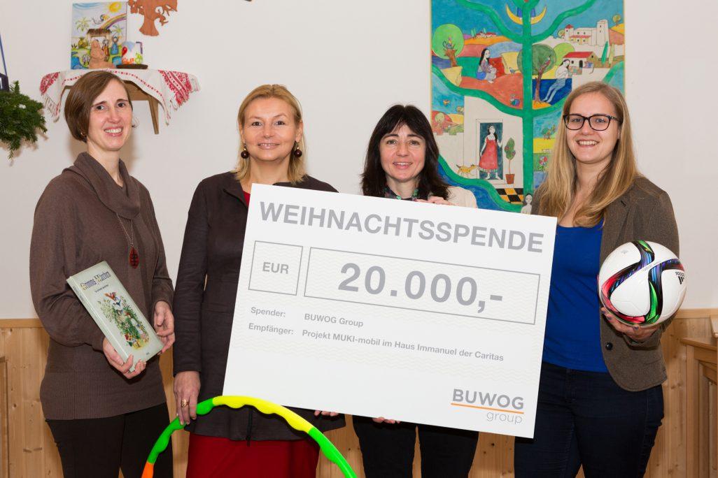 """BUWOG-Weihnachtsspende über 20.000 Euro für """"MUKI-mobil"""" der Caritas"""