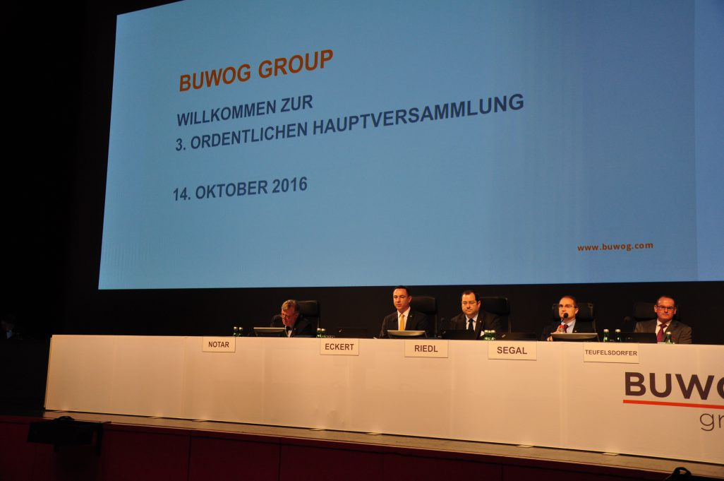 Live-Blog von der 3. ordentlichen Hauptversammlung der BUWOG AG am 14. Oktober 2016