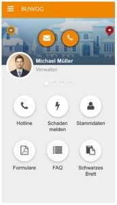 Bequem und digital: Screeshot der BUWOG-Mieter-App