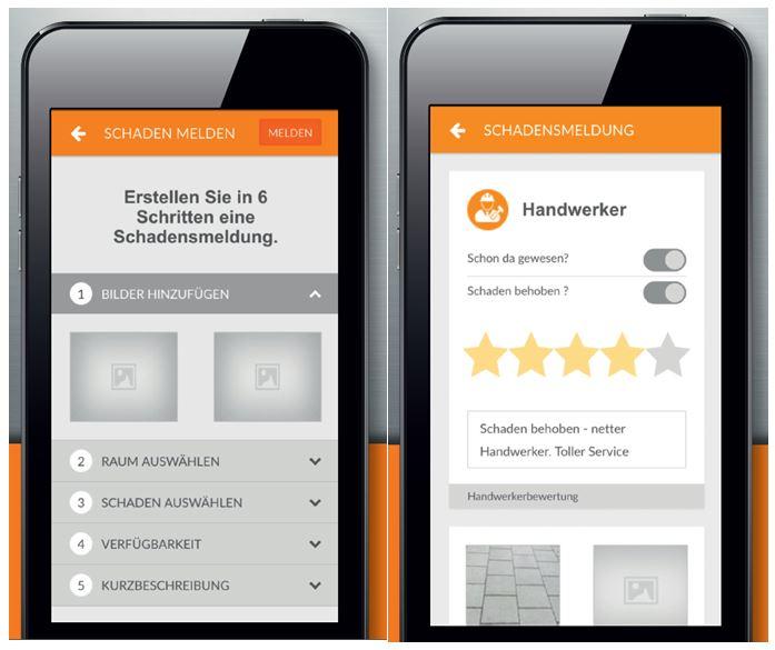 Screeshot der BUWOG-Mieter-App