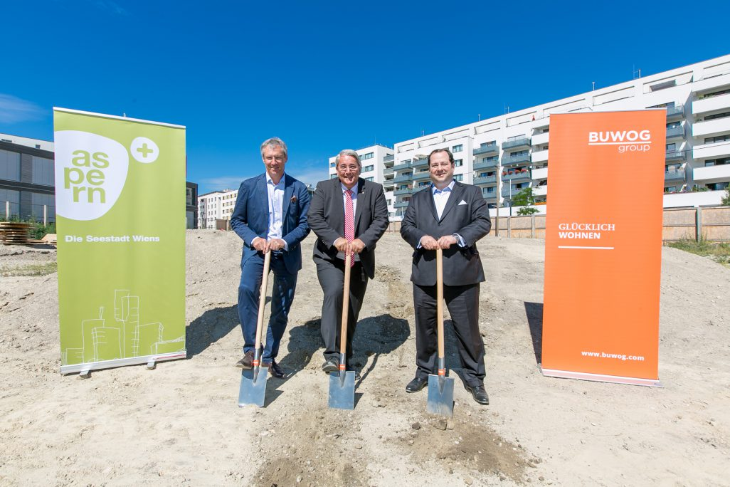 Ground-breaking for BUWOG projects at Aspern Seestadt