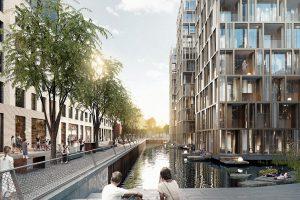 Visualisierung des geplanten Stadtquartiers
