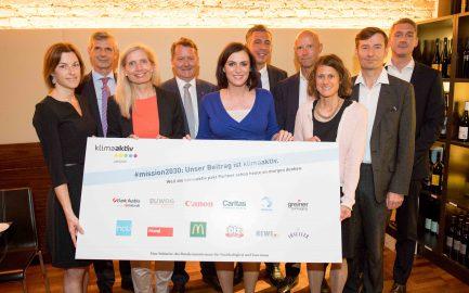 Treffen der klimaaktiv pakt-Partner mit Bundesministerin Köstinger
