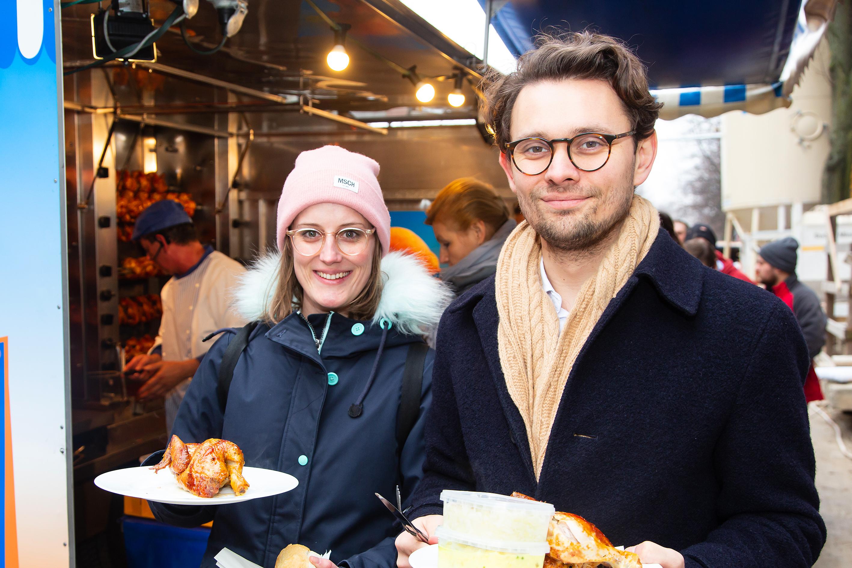 Kathrin Fring mit Paul Geida, Abteilungsleiter Erwerbermanagement. Credit: Claudia Hechtenberg / BUWOG