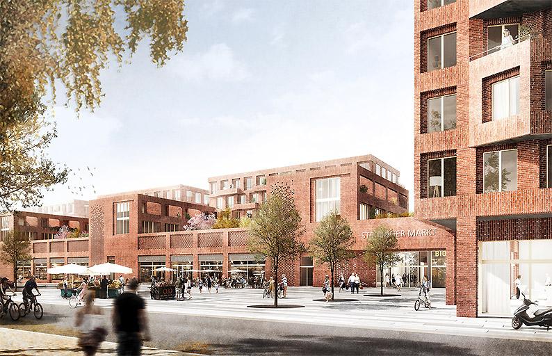 BUWOG baut neues Zentrum von Stellingen mit Stadtteilhaus, Einzelhandel und sozialem Wohnen