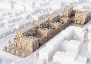 Modell des BUWOG-Projekts in Hamburg Stellingen