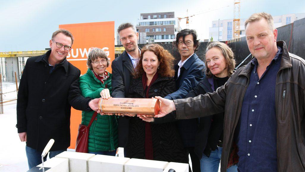 BUWOG THE VIEW: Ein Fest zur Fertigstellung der Bodenplatte