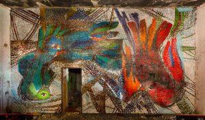 Das gefundene Wandmosaik wurde aufwändig gereinigt und ist mittlerweile abgenommen und fachgerecht eingelagert. Foto: BUWOG