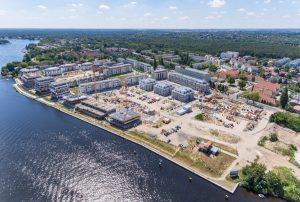 Vorzeigeprojekt 52 Grad Nord in Berlin-Grünau. Auf 100.000 m² entsteht bis 2024 ein nachhaltiges Wohnquartier. Credit: BUWOG