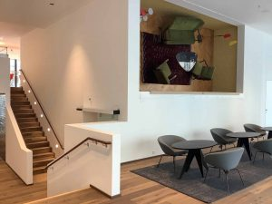 Lounge im neuen Kunden- und Verwaltungszentrum
