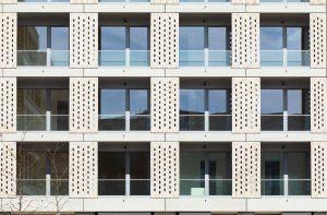 Die Schönheit liegt im Detail: Fassaden-Nahaufnahme BUWOG THE ONE. Foto: BUWOG / Hechtenberg