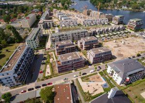 Quartier52° Nord von oben: Ein Luftbild aus dem Juli 2020. Foto: BUWOG Bauträger GmbH