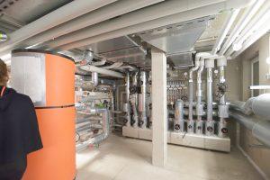Ein Blockheizkraftwerk im Keller sorgt für Energie im Quartier. Foto: BUWOG