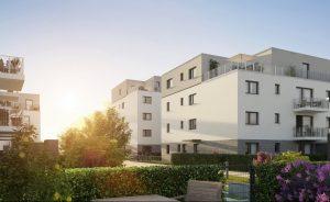 BUWOG DAS GRÜNGOLD: Neubauprojekt in Bad Nauheim. Credit: BUWOG